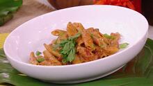 Picante hasta en la pasta: Chef Yisus le preparó a Karla Martínez esta deliciosa y cremosa receta