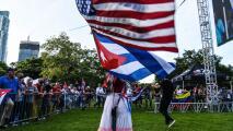 """Exiliados de Venezuela se unen en una sola voz para clamar """"libertad"""" para su país, Cuba y Nicaragua"""