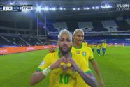 ¡Quería su gol! Neymar marca el 2-0 para Brasil de larga distancia