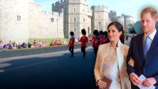 El inminente nacimiento del bebé del príncipe Harry y Meghan Markle atrae a turístas al Castillo de Windsor