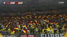 ¡GOL!  anota para Alemania. Thomas Müller