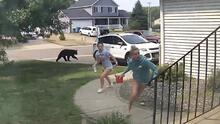 Un susto impresionante: un oso se aparece a unas adolescentes en su jardín
