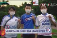 Aficionados japoneses de Cruz Azul visitan al Tri Olímpico