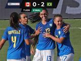Brasil da pelea hasta el final y sale con la victoria de 2-0 ante Canadá