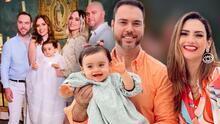 Michelle Galván y su esposo bautizan a baby Megan en su primer cumpleaños en México