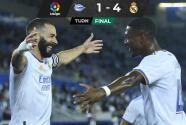 Doblete de Benzema y Real Madrid se estrena goleando al Alavés