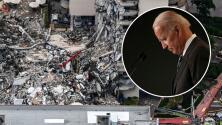 Biden visitará el edificio derrumbado de Surfside en Miami