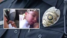 """(Video) """"¡Él está respirando!"""": Policía revive bebé tras misterioso paro cardio-respiratorio en un auto"""