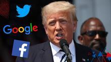 Donald Trump demanda a los directores de Google, Facebook y Twitter por expulsarlo de las plataformas