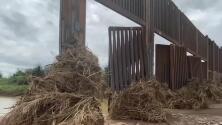 Un arroyo en Arizona derriba una parte del muro fronterizo y genera dudas sobre la solidez de su construcción