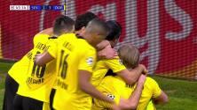 "¡GOL!  anota para Borussia Dortmund. [""Erling""] [""Braut Håland""]"