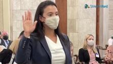 Claribel Cortes, la primera latina en la posición de jueza del tribunal testamentario en el condado de Middlesex, Nueva Jersey.