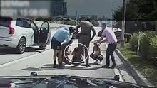 Así logra un policía reanimar a un bebé en el medio del tráfico de la I-95