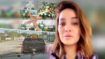 """Mayeli Alonso llora """"el último paseo"""" a su padre: así fue el funeral de don Mario Alonso"""
