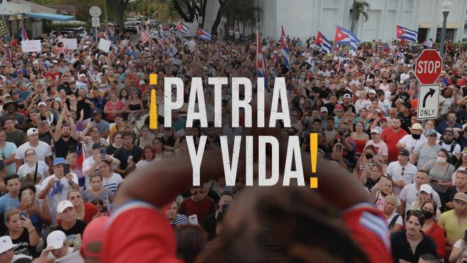¡PATRIA Y VIDA!