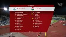 Resumen del partido San Marino vs Hungría