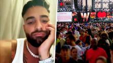 """Maluma se queda """"con los crespos hechos"""" por culpa del mal clima en Nueva York"""
