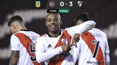 River Plate golea a Lanús para hilvanar su segunda victoria