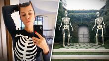 Kourtney Kardashian y Kylie Jenner están listas para Halloween: así decoraron sus lujosas mansiones