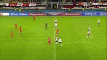 ¡GOL!  anota para Alemania. Jamal Musiala