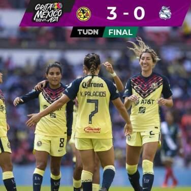 ¡Paso perfecto! América impone su localía al golear 3-0 a Puebla