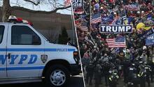 Señalan diferencias sobre como actuó la policía en el Capitolio y el NYPD en las protestas del día de Martin Luther King