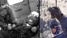 Captan en video el rescate aéreo de un inmigrante que estaba a punto de morir en la frontera de Arizona
