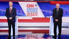 El primer debate entre Sanders y Biden concluye como empezó: hablando de la crisis del coronavirus