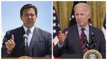 """""""No quiero oír nada del covid proveniente de usted"""": DeSantis se enfrenta a Biden en medio de aumento de casos en Florida"""