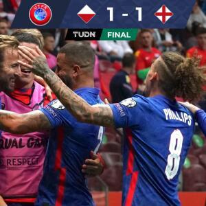 ¡Polonia sigue con vida! Consigue un agónico 1-1 ante Inglaterra al 92'