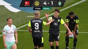 GOLAZO de Gio Reyna y Haaland rompe sequía con el Dortmund