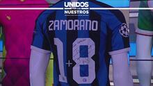 La camiseta histórica 1+8 de Iván Zamorano es para... Jonathan Flores