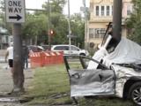 Un hombre hispano muere y otro permanece en condición crítica tras aparatoso accidente en Roosevelt Boulevard