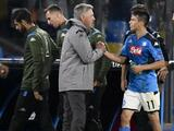 Carlo Ancelotti augura buen futuro a Hirving Lozano en el Napoli