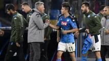 Ancelotti deja entrever que Hirving Lozano seguirá en el Napoli