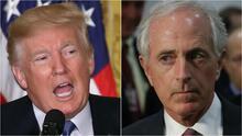 La tensa guerra de palabras entre Trump y el senador republicano Bob Corker