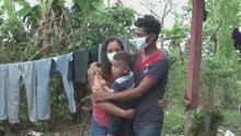El emotivo momento en que hondureño secuestrado se reúne con su familia tras quedar libre