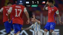 Argentina sigue invicta pero no pudo con Chile