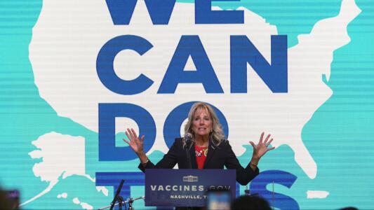 """Abuchean a Jill Biden después de decir que """"solo 3 de cada 10 habitantes de Tennessee están vacunados"""""""