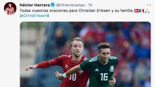 HH y clubes mexicanos envían mensajes de apoyo a Eriksen