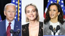 """Sharon Stone pide a sus seguidores que voten por Biden en vez de elegir a un """"asesino"""""""