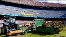 Barcelona cambia césped del Camp Nou para próxima temporada