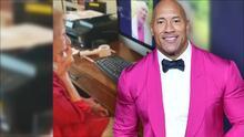 Dwayne Johnson enternece a las redes con la felicitación de cumpleaños que dedicó a una ancianita