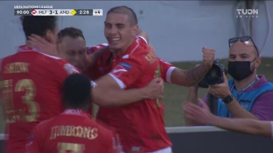 ¡Contragolpe letal! Shaun Dimech sentencia 3-1 de Malta sobre Andorra