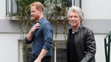 Así fue el encuentro del príncipe Harry y Bon Jovi en los estudios Abbey Road