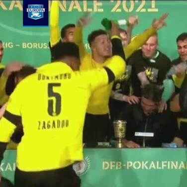Así celebró Borussia Dortmund su título de la Pokal