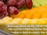Frutas precortadas retiradas del mercado por posible brote de Salmonella