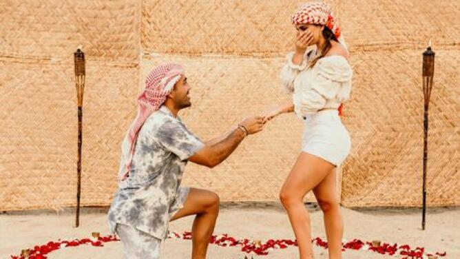 La romántica petición de matrimonio de Marco Fabián