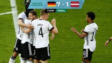 Alemania aplasta a Letonia en último ensayo previo a Euro 2020