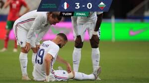 ¿Victoria? Francia golea a Bulgaria, pero Benzema sale lesionado